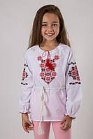 Вышиванка для девочки с геометрическим узором, вышивка красно-черная