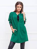 Платье-туника Югина в зеленом цвете