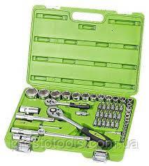"""Набор инструментов Alloid НГ-4055П 1/4"""", 1/2"""", 55 ед."""