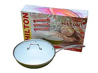 Сковорода Hilton 2845 FР WOK керам+крышка 28см,4,5мм