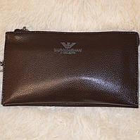 Мужской клатч Giorgio Armani портмоне, коричневый, фото 1