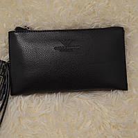 Мужской клатч Giorgio Armani портмоне, черный, фото 1