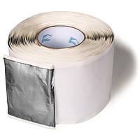 Aqua Protect Стрічка герметизуюча бутилкаучукова самоклеюча, армована фольгою, Срібляста 0,1х10м /62332