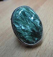 """Серебряный перстень  с натуральным серафинитом """"Лесной цветок"""" , размер 17.5 от студии LadyStyle.Biz, фото 1"""
