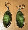 """Шикарные серьги с зеленым  агатом  """"Летний бриз"""",  от Студии  www.LadyStyle.Biz"""