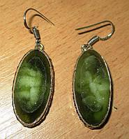 """Шикарные серьги с зеленым  агатом  """"Летний бриз"""",  от Студии  www.LadyStyle.Biz, фото 1"""