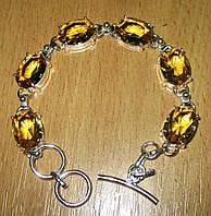 Серебряный браслет с цитрином от LadyStyle.Biz, фото 1