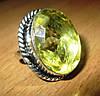 """Шикарное кольцо """"Лимонный"""" с цитрином, размер 19  от студии LadyStyle.Biz"""