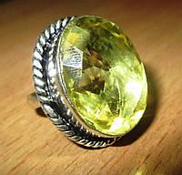 """Шикарное кольцо """"Лимонный"""" с цитрином, размер 19  от студии LadyStyle.Biz, фото 1"""