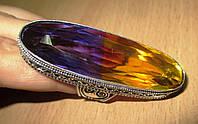 Серебряный перстень с аметрином 18.5 размера от LadyStyle.Biz, фото 1