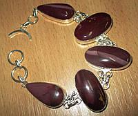 Экзотический браслет с бордовой яшмой   от студии LadyStyle.Biz, фото 1