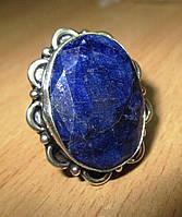 """Овальный перстень с сапфиром  """"Цветочный"""", размер 16,7 от студии LadyStyle.Biz, фото 1"""