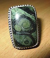"""Красивое кольцо с крокодиловой яшмой камамба  """"Пятнистое"""", размер 20.3 от Студии  www.LadyStyle.Biz, фото 1"""