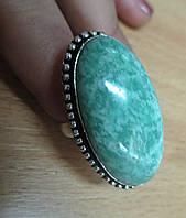 """Яркое кольцо с амазонитом """"Голубая дымка"""" , размер 18.3 от Студии  www.LadyStyle.Biz, фото 1"""