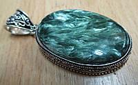 """Крупный серебряный кулон  с натуральным серафинитом """"Ангельские крылья"""" ,  от студии LadyStyle.Biz, фото 1"""