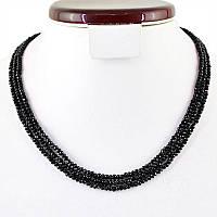 Шикарные бусы с черной шпинелью 110 карат от студии  LadyStyle.Biz, фото 1