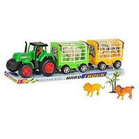Трактор с прицепом, животные 906-104 микс видов HN