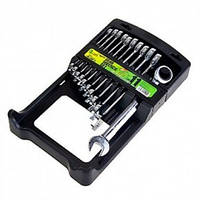 Набор ключей рожково - накидных с трещоткой и переломом Alloid  НК-2081-11К