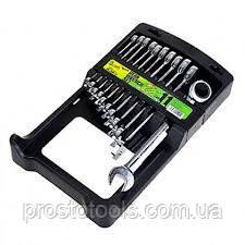 Набор ключей рожково-накидных с трещоткой Alloid НК-2081-11 8-19 мм. 11 ед.