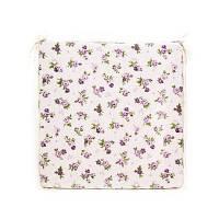 """Подушка на стул  """"lilac Rose""""с кружевом 40х40 см"""