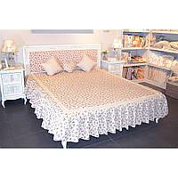 """Покрывало на кровать """"Lilac rose"""" с кружевом"""