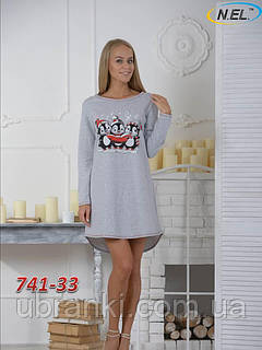 Женская ночная рубашка с начесом
