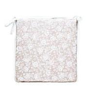 """Подушка на стул  """"white Rose""""с кружевом 40х40 см"""