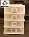 Міні-комод пластиковий для дрібниць Senyayla (білий), фото 2