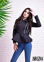 Куртка с баской из неопрена 0906-3