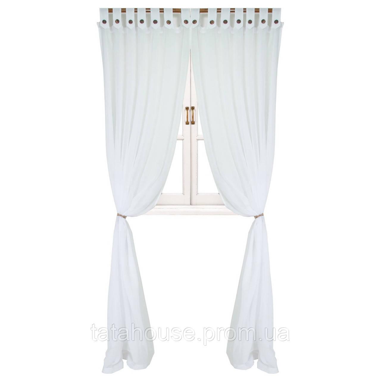 Гардина White с декоративными пуговицами 1 ед 180х250, фото 1