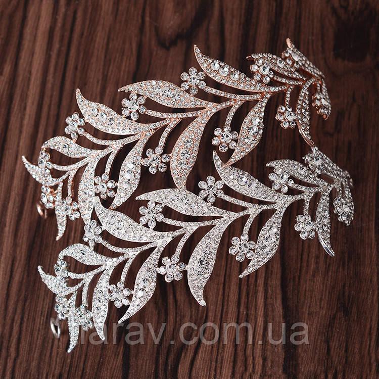 Тиара диадема, КРИСТИ, украшение ободок аксессуары для волос
