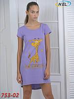 Женская ночная рубашка кулир