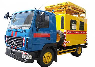 Машина аварийная для ремонта контактных сетей базе МАЗ