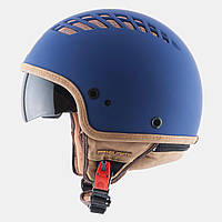 Открытый шлем MT Cosmo Rubber Blue, фото 1