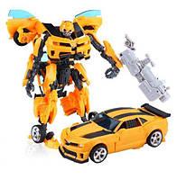 Трансформер Бамблби (трансформер) робот-машинка праймбот: размер 17см