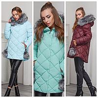 Стильная зимняя женская куртка | Женский пуховик на зиму