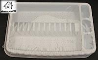 Пластиковая сушка для посуды одноярусная С031 белая