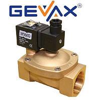 """Электромагнитный клапан 1 1/4"""" EPDM 220 B нормально закрытый GEVAX (Турция)"""