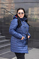 Куртка утеплена для великих жінок, з 48 по 82 розмір, фото 1