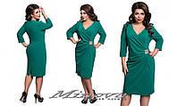 """Женское Платье 17-01 """"Сабрина""""нарядное с камнями больших размеров"""
