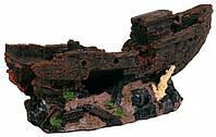 Декорация Trixie Shipwreck для аквариума, затонувший корабль, полиэфирная смола, 24 см