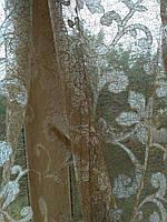 Тюль сетка с атласными цветком , фото 1