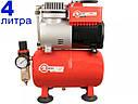 Безмасляный компрессор на 4 литра Intertool PT-0001, фото 2