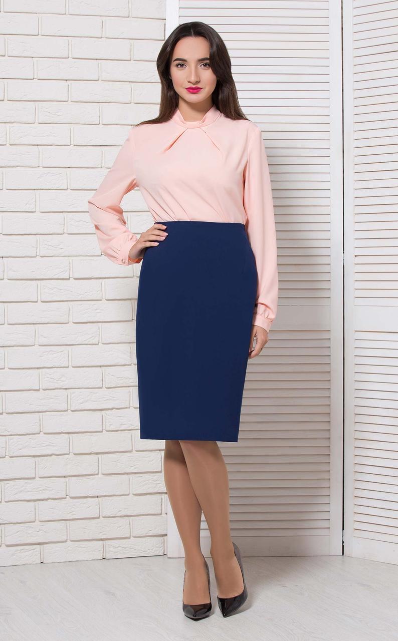 Блуза классика на стойку розовая Modna KAZKA