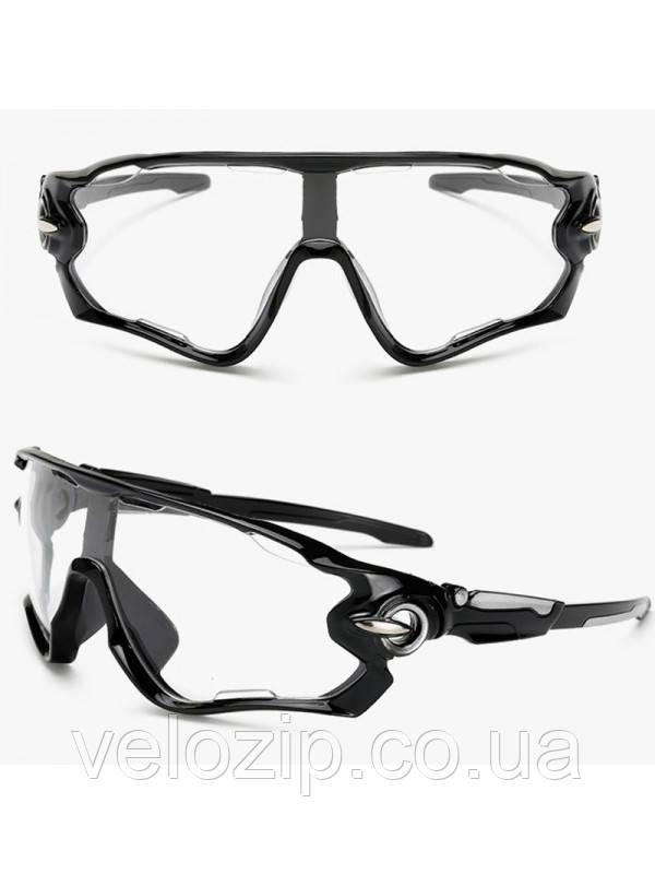 Очки Oakley JawBreaker, черная оправа прозрачные стекла - Интернет-магазин  велотоваров Velozip.co 619fd1ee74f