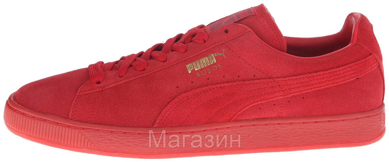 336451c9 Женские кроссовки Puma Suede Classic Mono Iced Red (в стиле Пума Классик  замшевые) красные