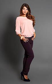 Блуза стильная бледно- розовая BerdToni