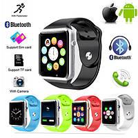 Смарт Часы Телефон А1 Smart Watch A1 - Симка Флешка Вибро Блютуз Камера