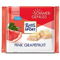 Шоколад Ritter Sport 100гр. (Германия) Pink Grapefruit (белый с грейпфрутовым йогуртом и хлопьями)