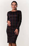 Платье футляр в клетку ZANNA BREND S,M,L,XL (44,46,48,50) черный, фото 1